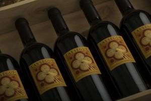 Bottle of Lassegue Grand Cru.