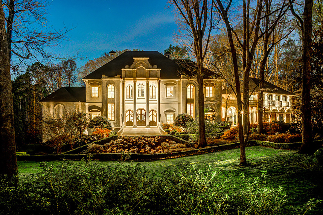 Exterior Shot of Cardi B and Offset's new Atlanta Mansion