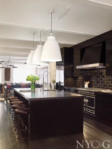 black cabinet kitchen and kitchen island