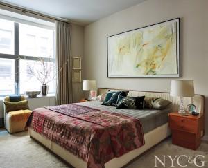 Eclectic Flatiron Apartment master Bedroom