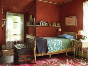 Fishers Island Red Bedroom