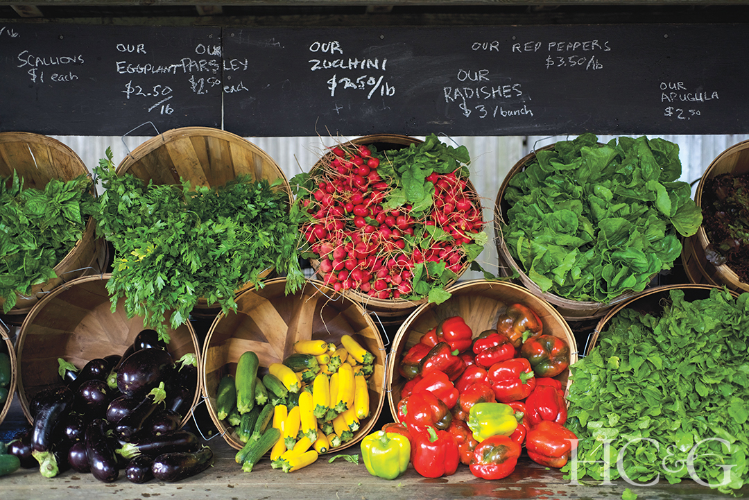 Summer Farmstand With Veggies
