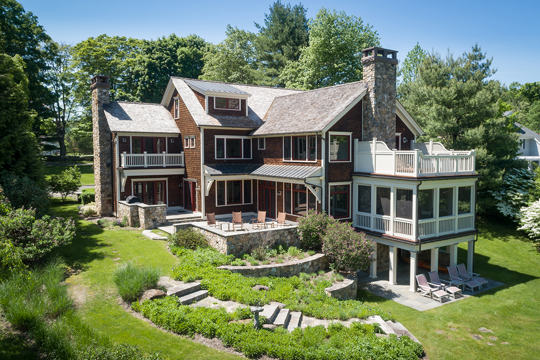 Stunning Lakefront Warren Ct Home With A Private Beach Seeks 4 9m Back Of House