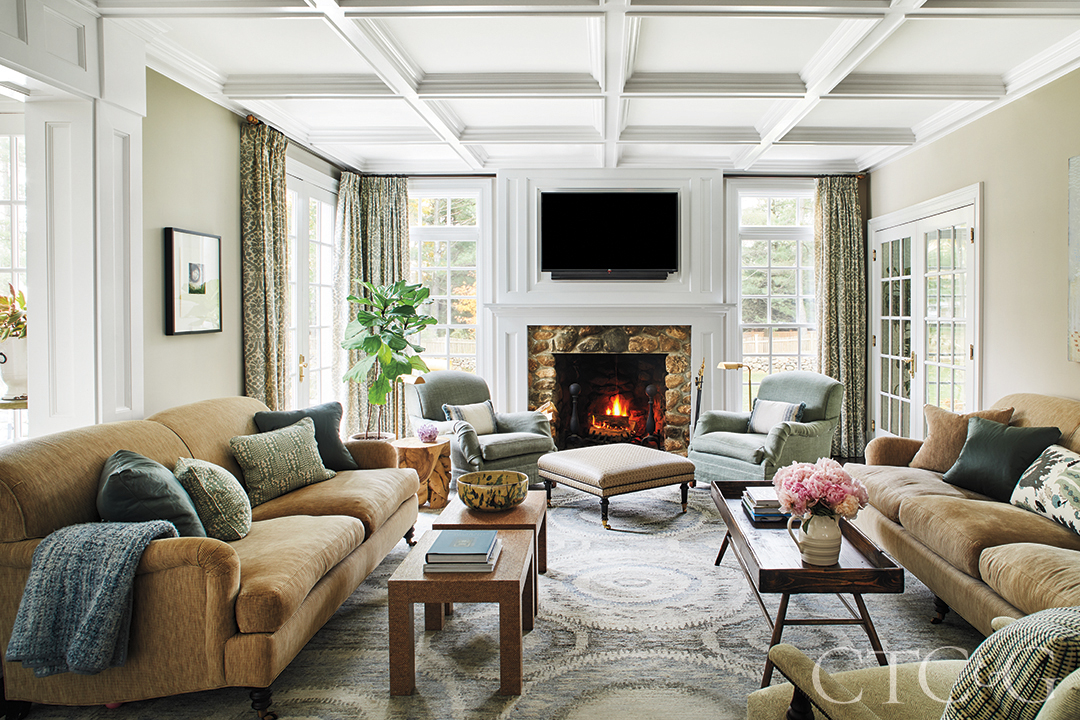 Living Area in New Canaan House