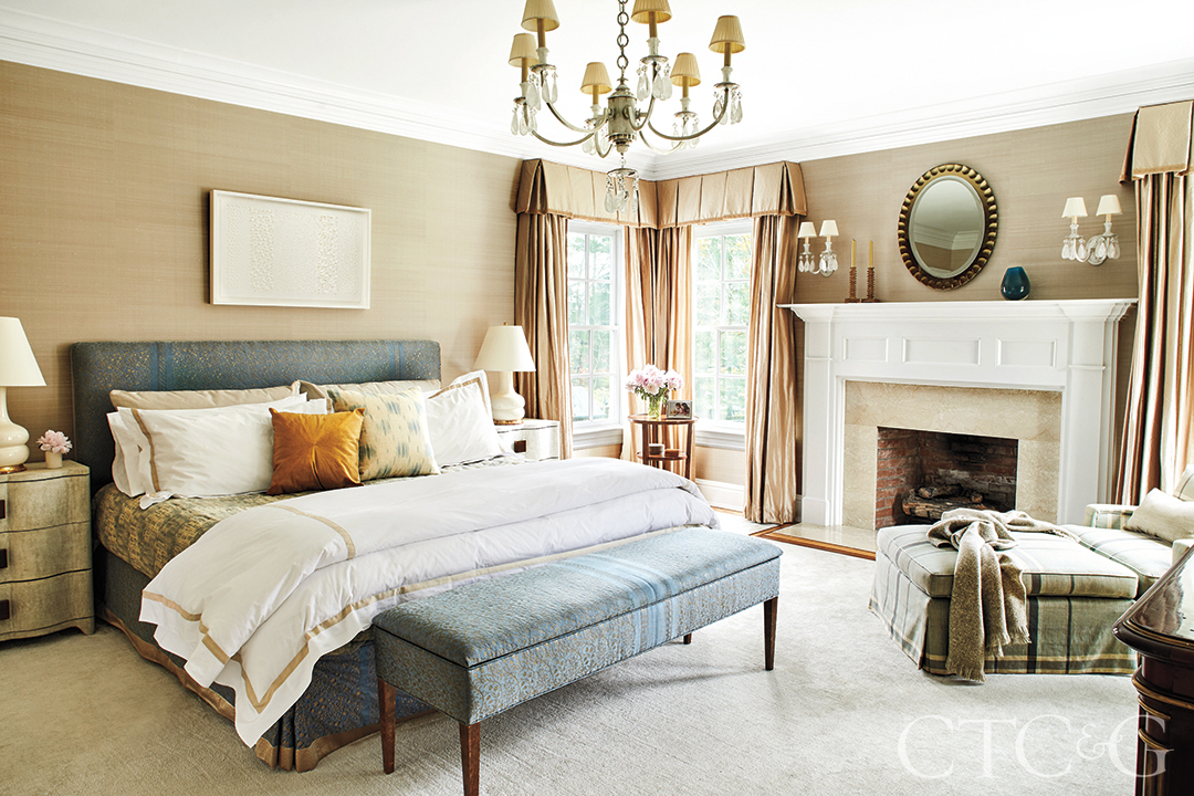 Master Bedroom in New Canaan House
