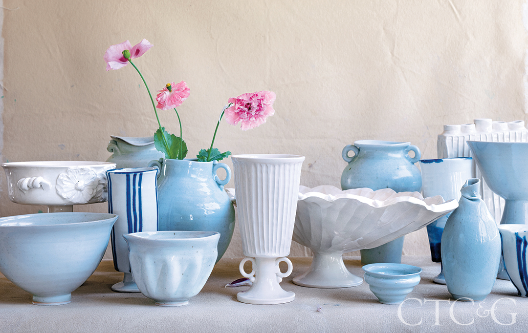 Porcelain And Earthenware Clay Pots