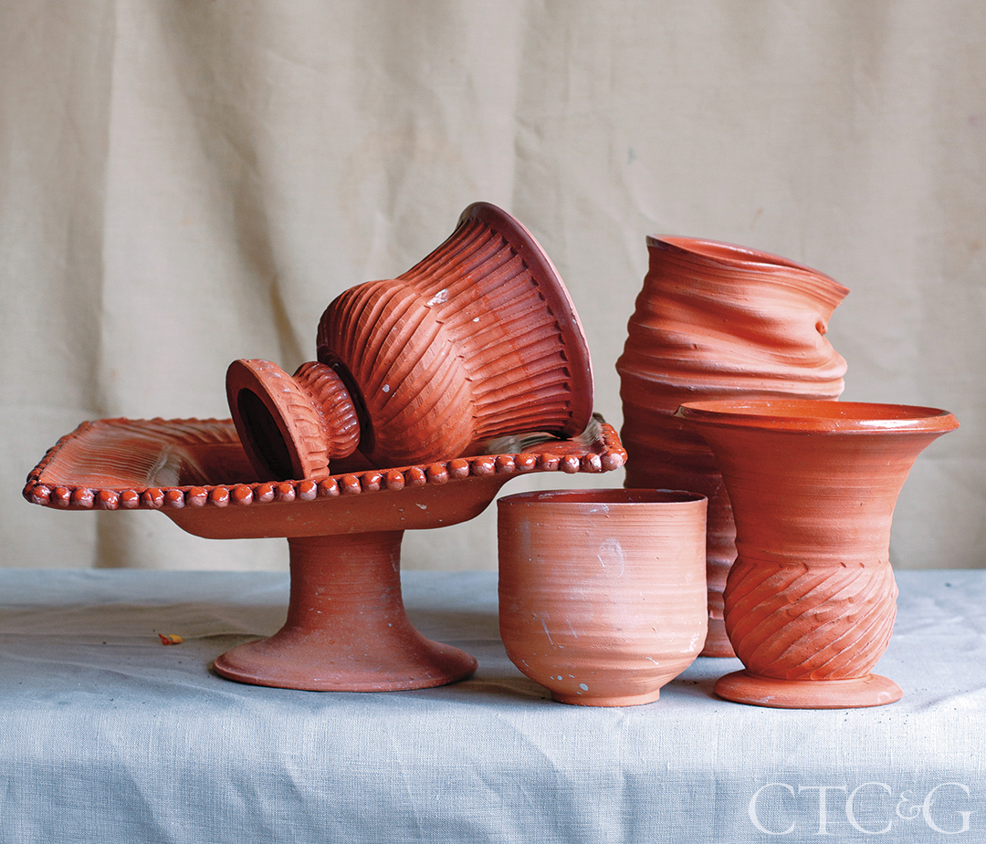 Terra-Cotta Clay Glazed Vessels