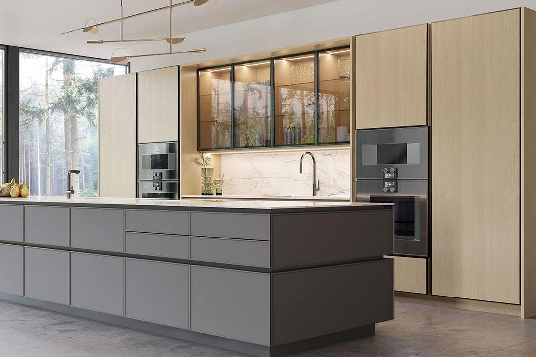 Precision Meets Fashion In These Glamorous Glass Doors Eggersmann Kitchen