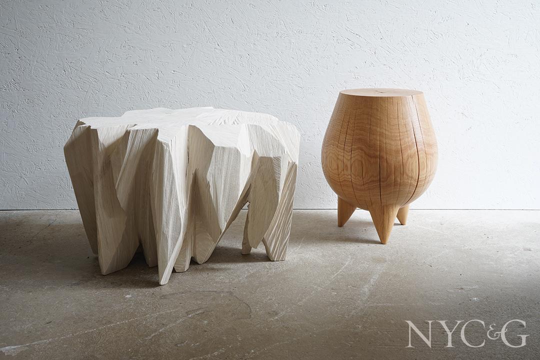 Kieran Kinsella Wood Table And Stool