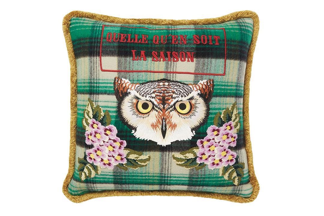 Owl Print Pillow