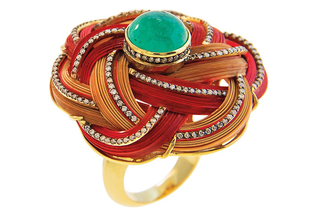 Silvia Furmanovich Emerald Ring