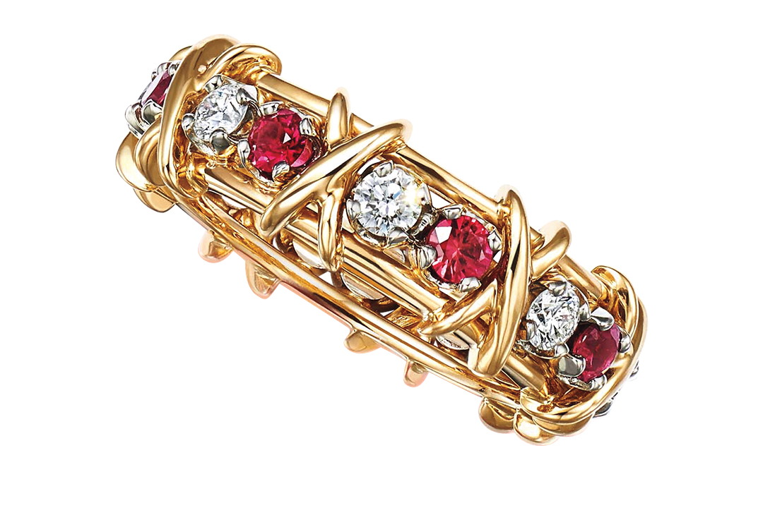 Tiffany & Co Diamond And Rubies Ring