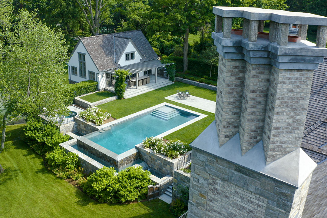Tour A Modern Tudor Style Home Designed With Stone In Mind Horizontal 8