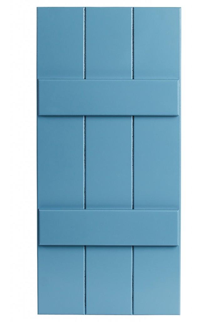 Blue House Shutters