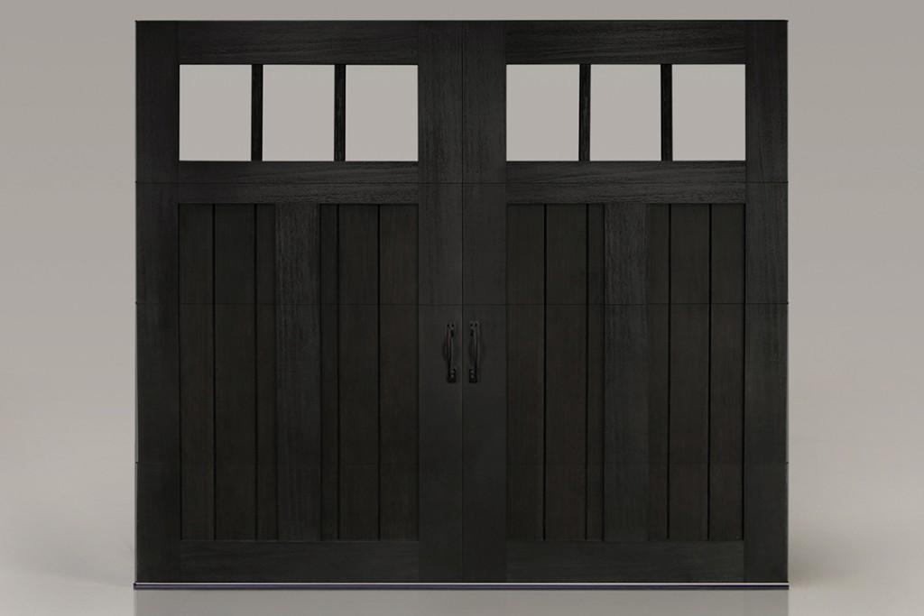 Black Mahogany Garage Doors