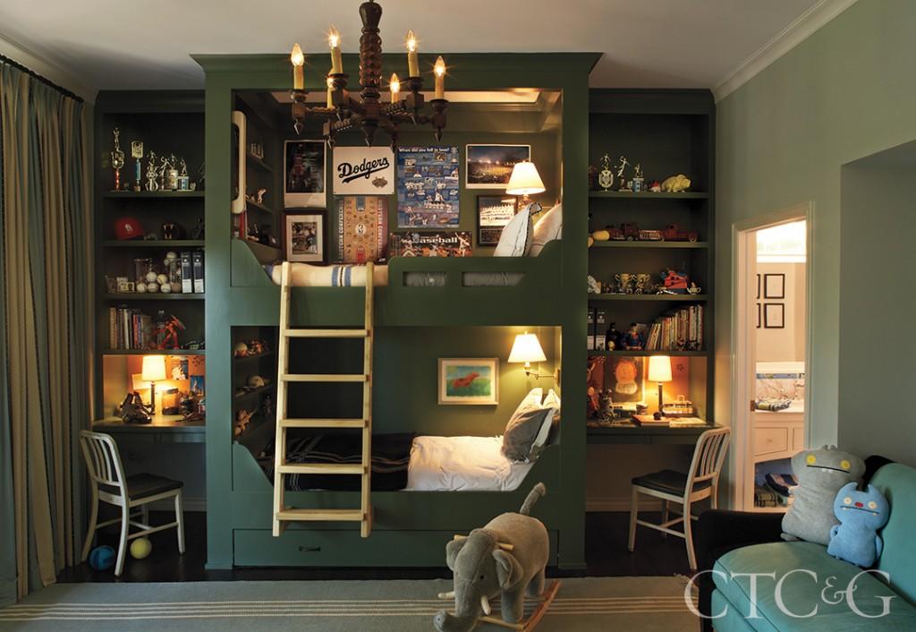 Sophisticated Bunk Bed Kids Room Design
