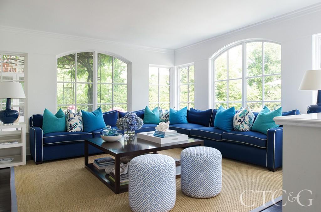 Blue Sectional Design