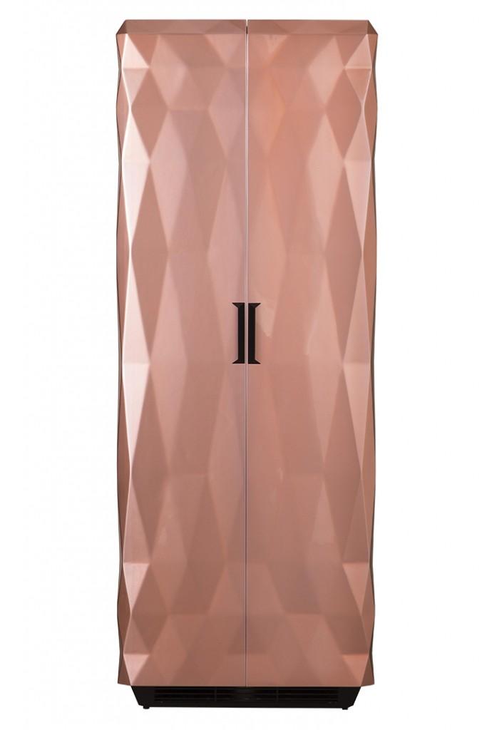 Glamorous Metallic Pink Cabinet