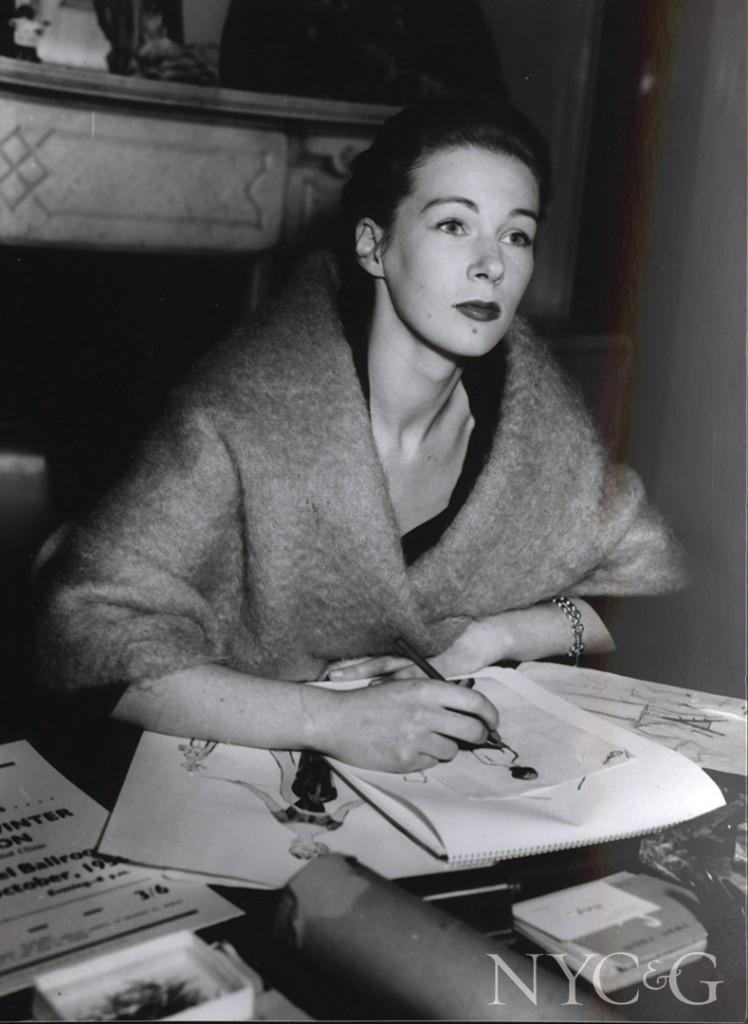 Clodagh 1960s Fashion Drawing