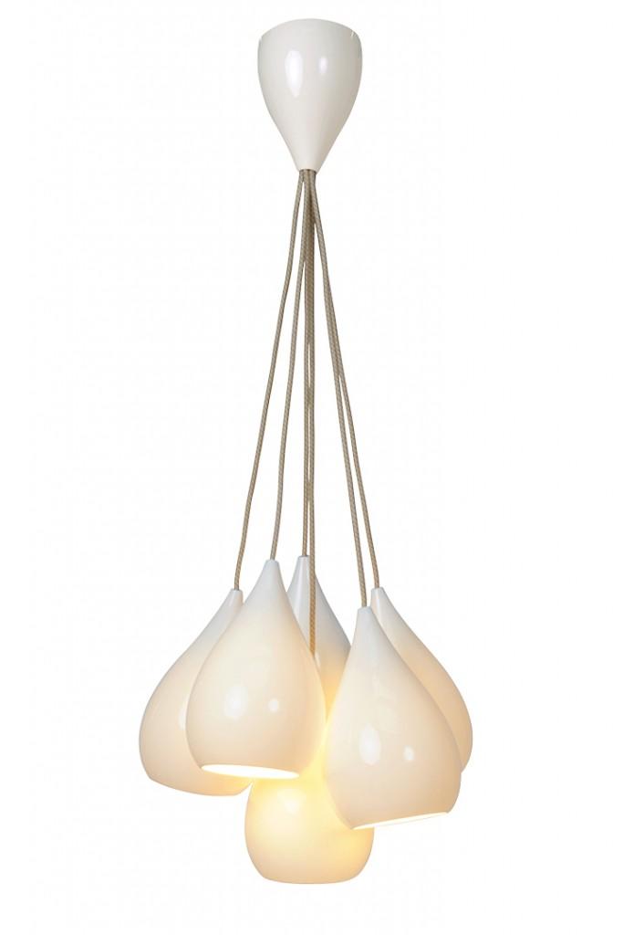 White Pendent Lighting Arrangement