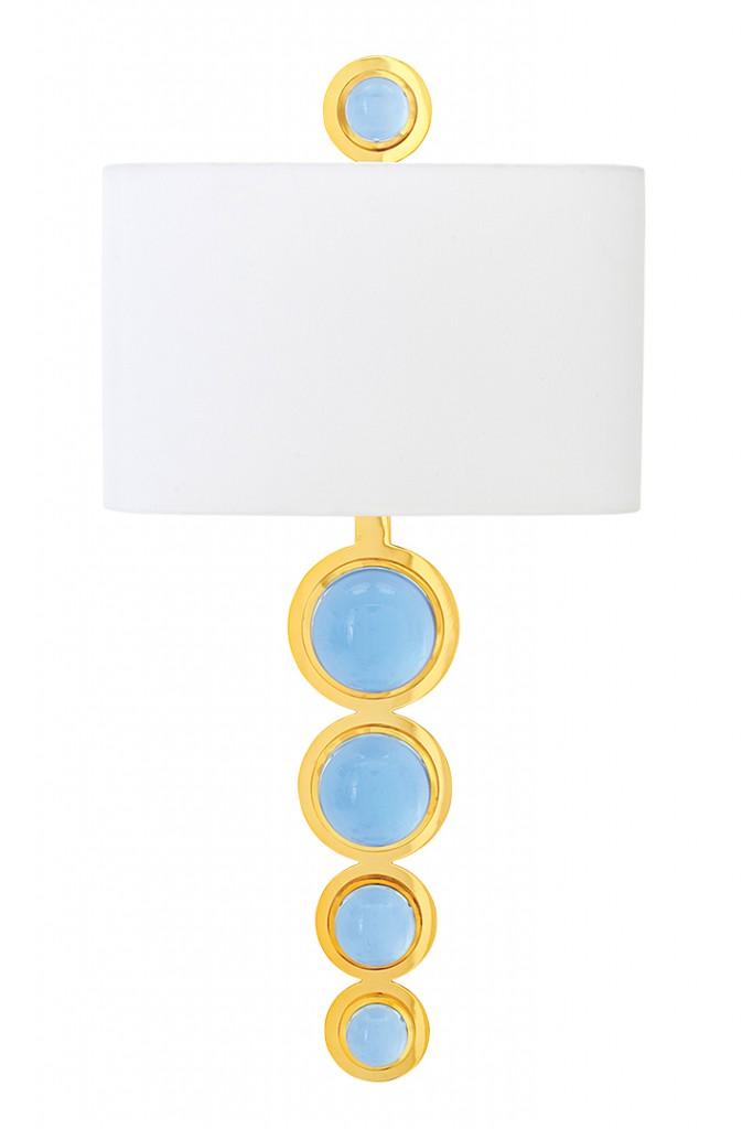 Blue Lighting Sconce