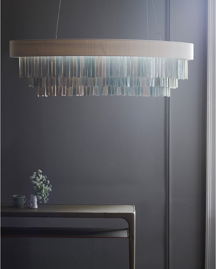 Chandelier With Colored Porcelain Drops