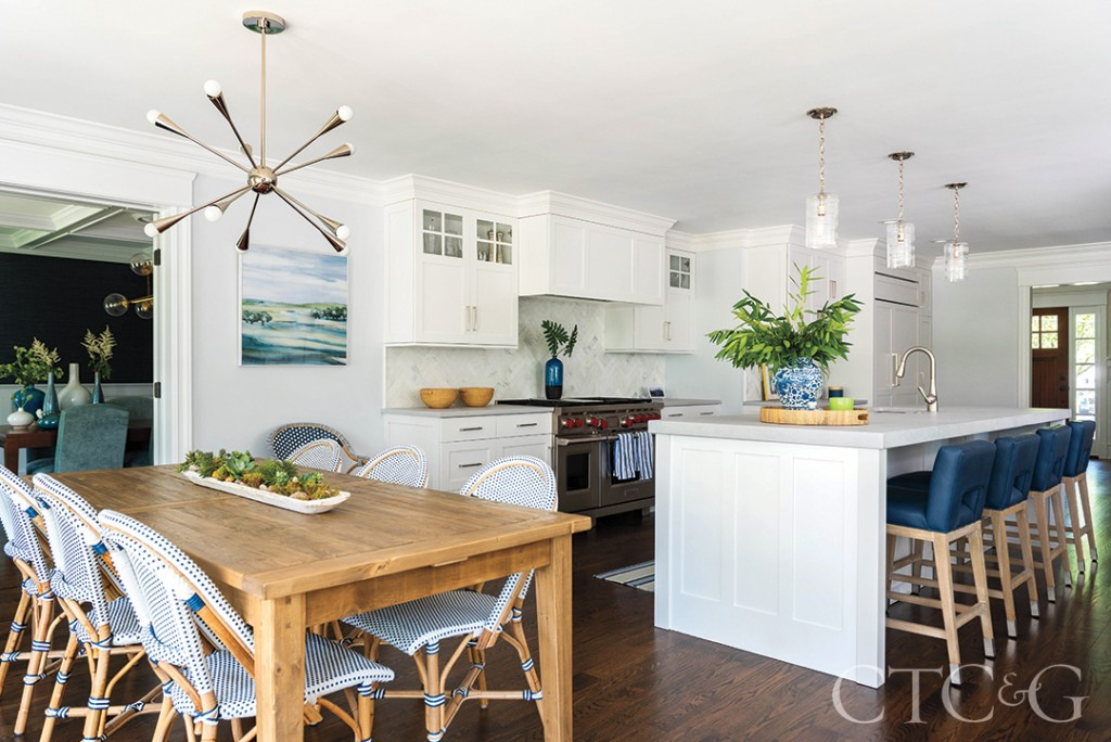 Darien Home Kitchen With White Cabinetry