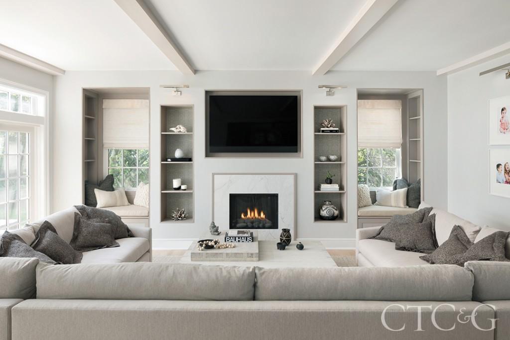 Beige Living Room Modern Home Decor