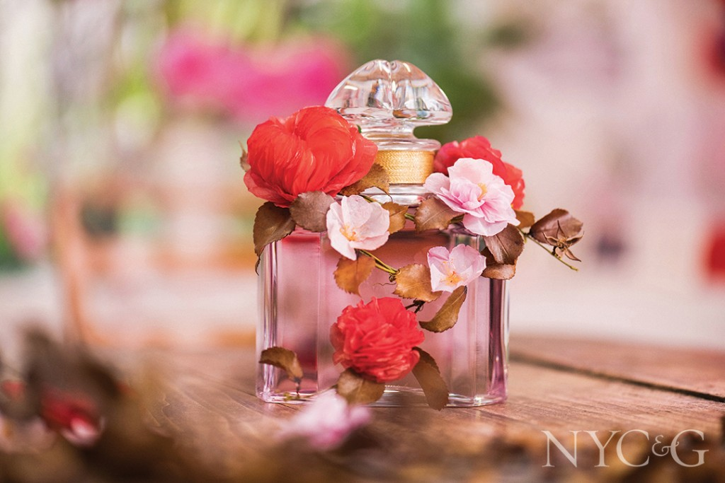 Perfume Bottle With Flower Decorations