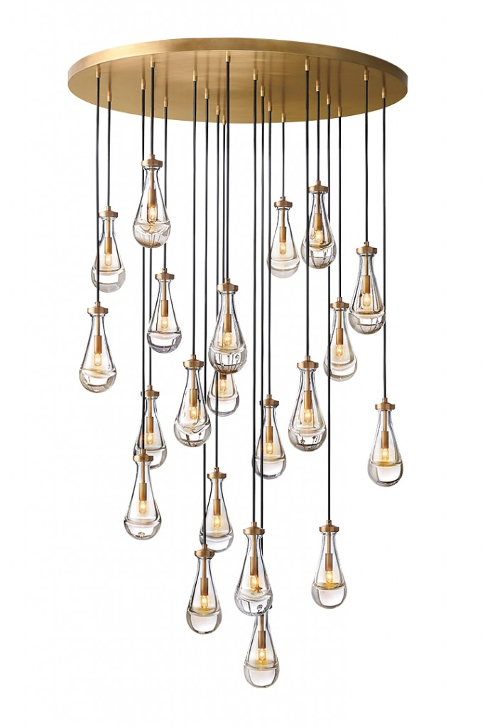 vintage brass lighting fixture
