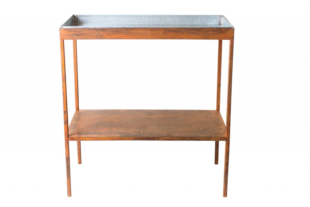 Metal Tray Garden Table