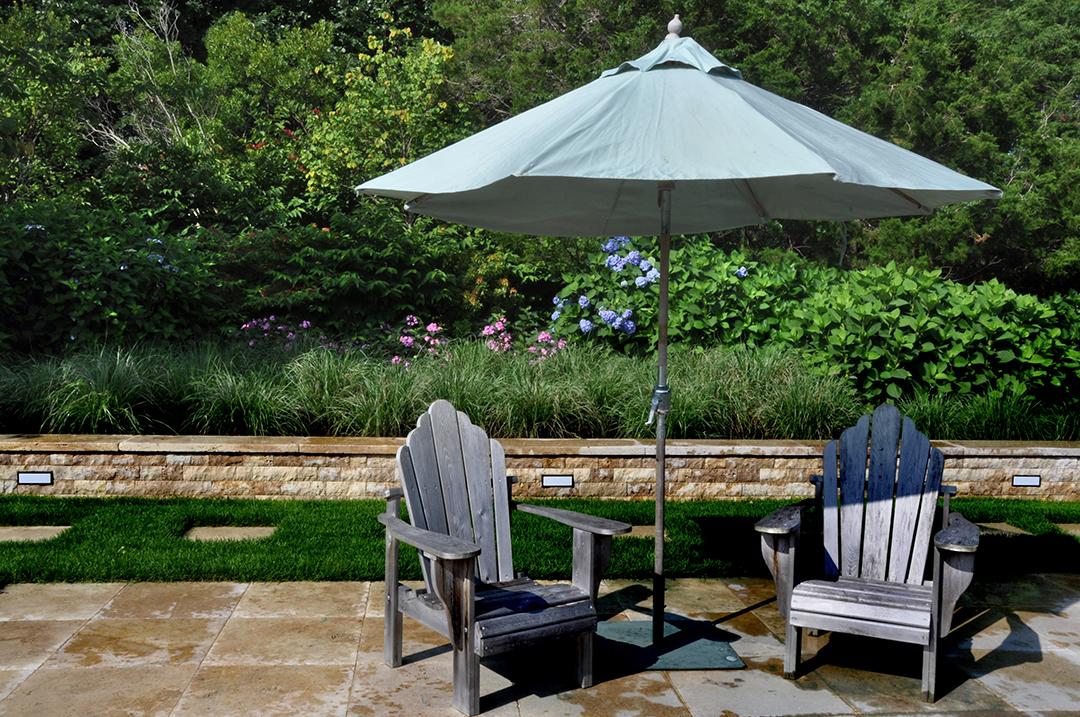 Harmonia Creates A Garden Sanctuary In Water Mill Umbrella