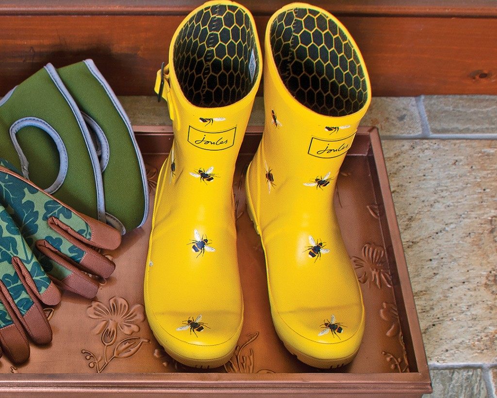 Golden Bee Yellow Garden Boots