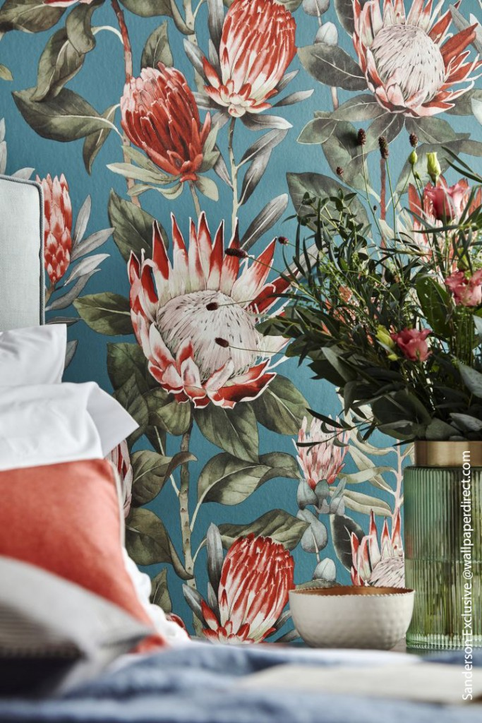 Discover Wonderful Wallpapers From Across The Pond Wallpaperdirect Sanderson Exclusive Flowers