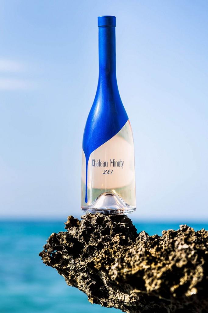 Chateau Minuty 281 blue bottle