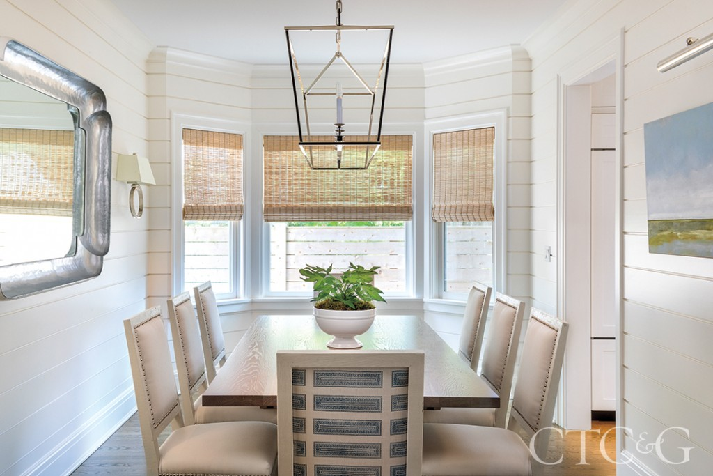 Dining room with neutral palette