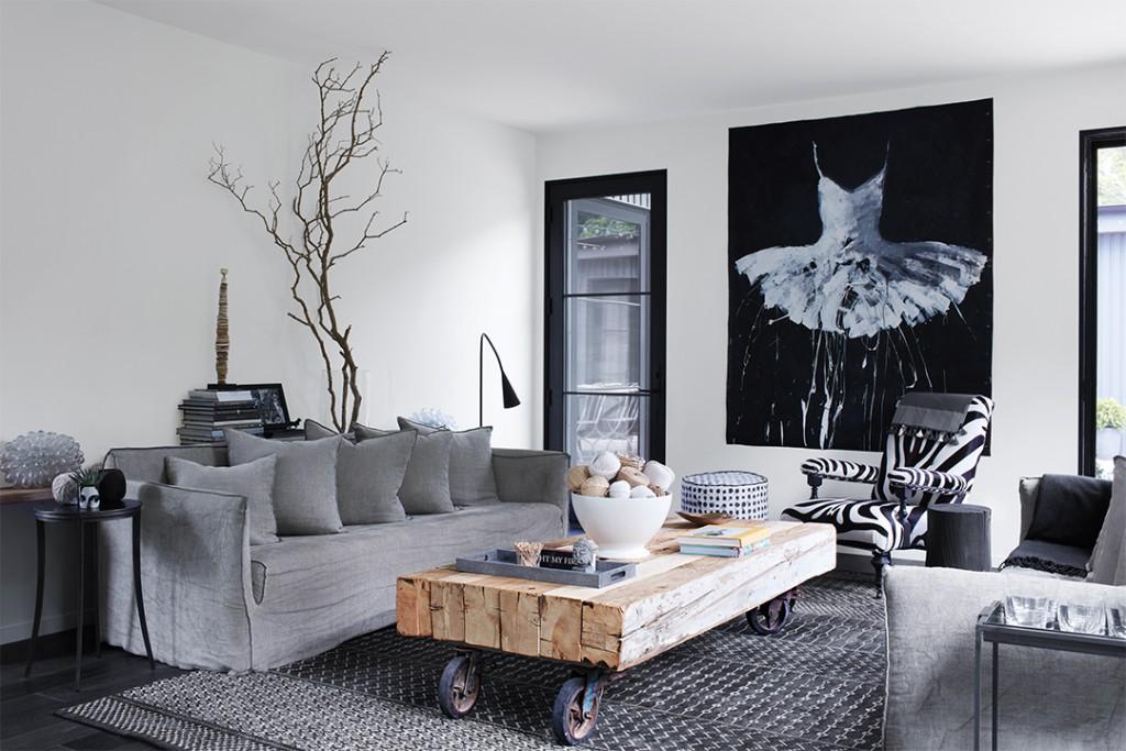 Black White And Gray Unite Inside This Striking Abode