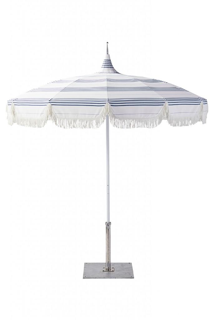 Serena Lily Lake Stripe Fringe Umbrella