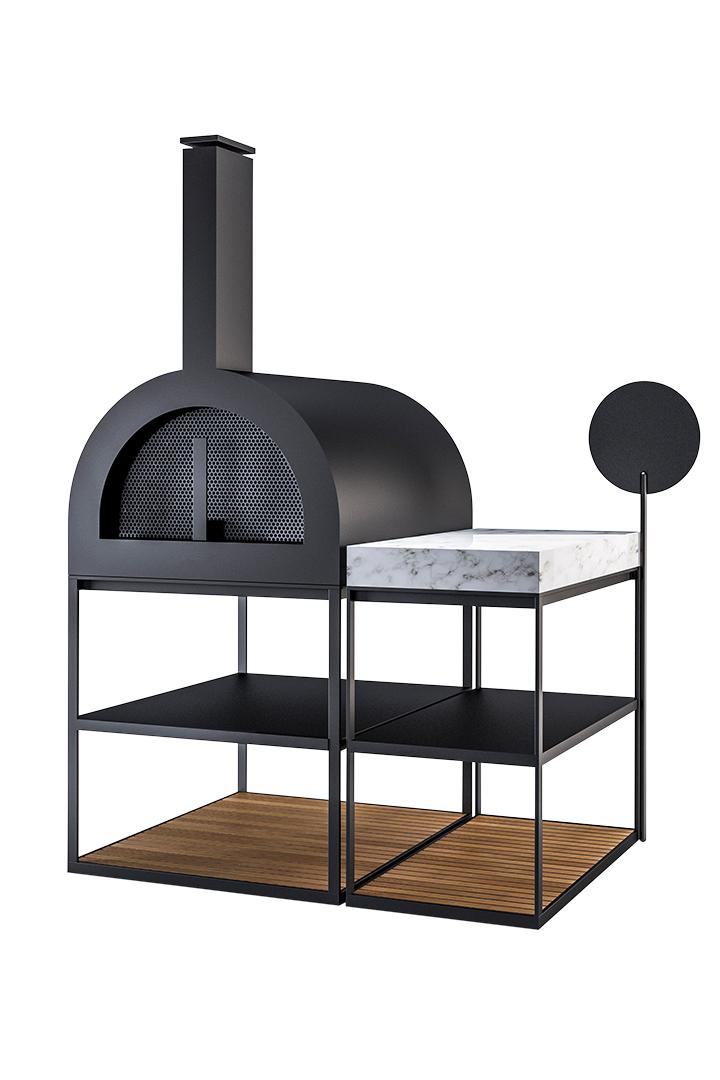 Garden Ease Pizza Oven Modern Outdoor Collection Wood Aluminum Hamptons California