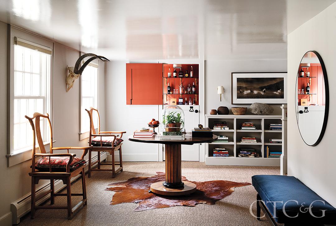 Farmhouse Style Interior Design Orange Accents