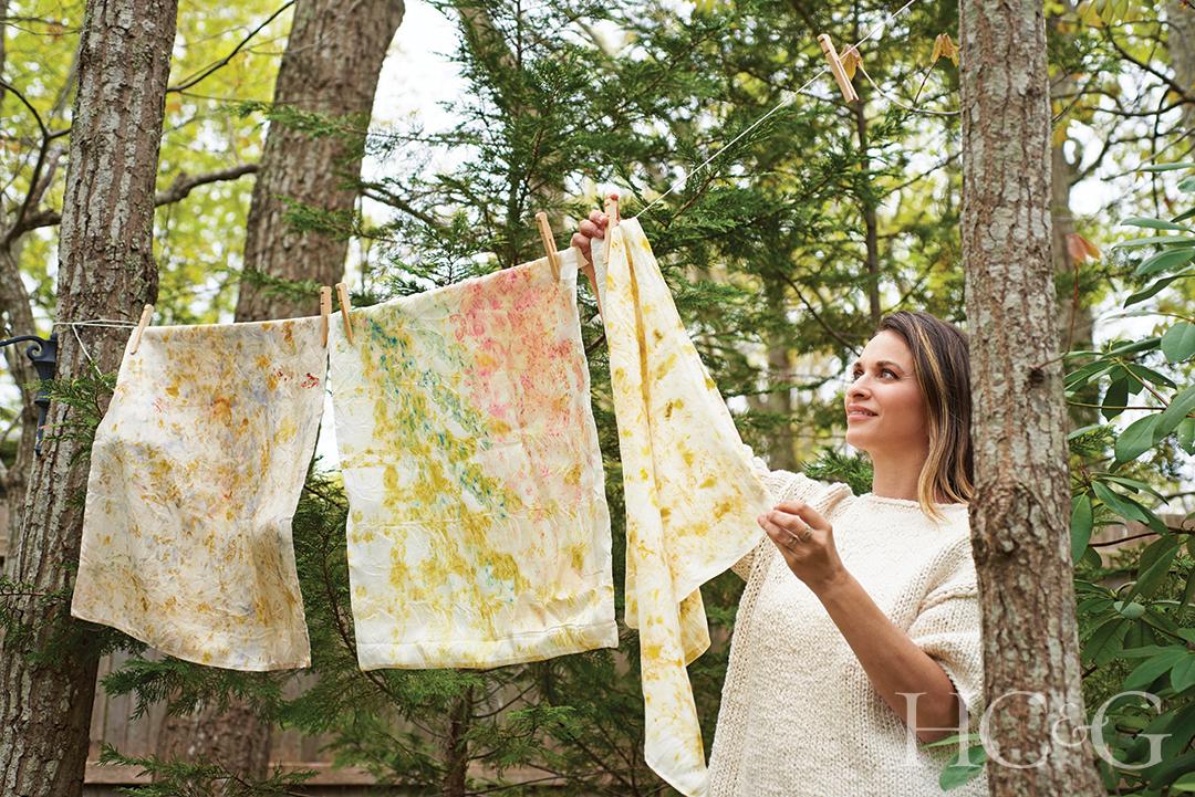Nicole Delma Hanging Wilk Pillowcases To Dry