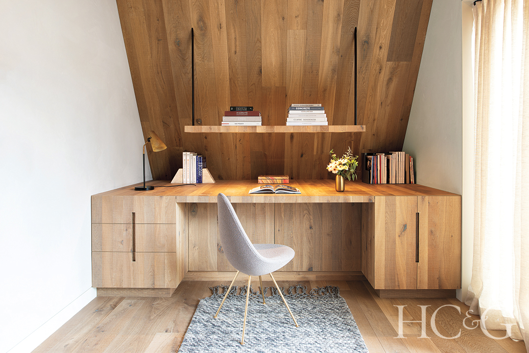 Built In Wooden Desk