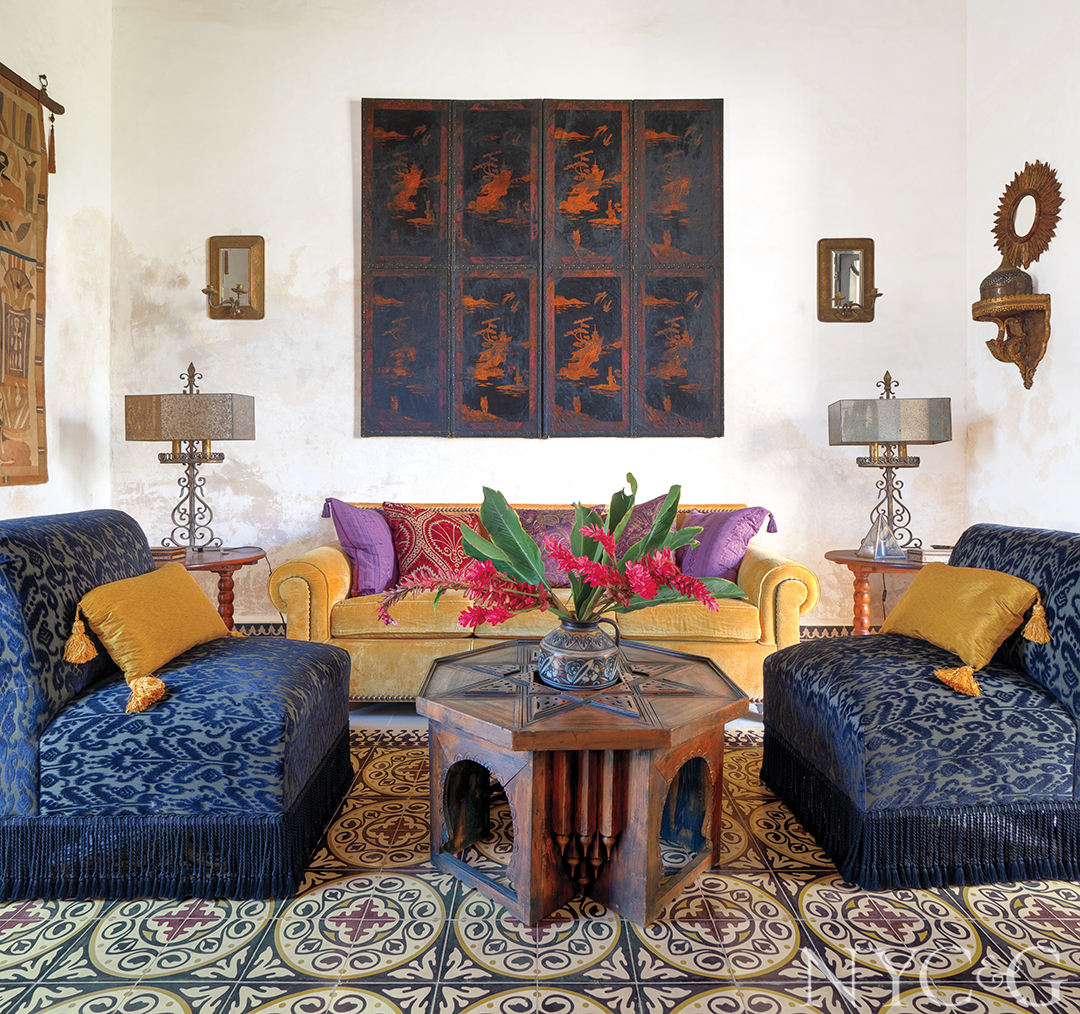 Tour Eclectic Mexico Hacienda Brimming With Personality Seating Area