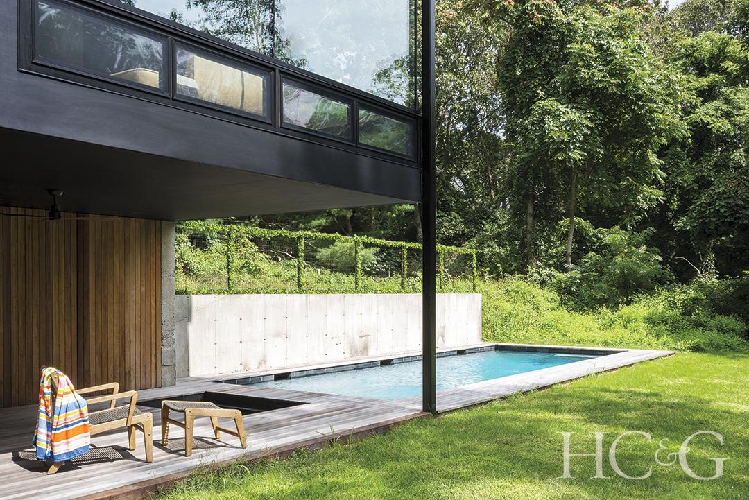 modern pool deck and pool