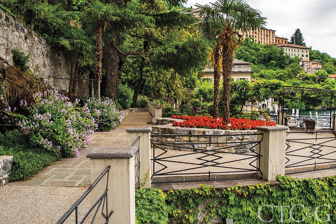 Lake Como Villa Pathway
