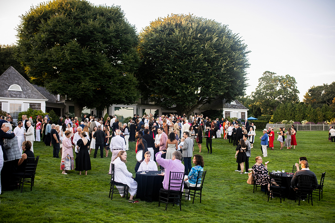 Guild Hall Summer Gala People Gathered On The Lawn