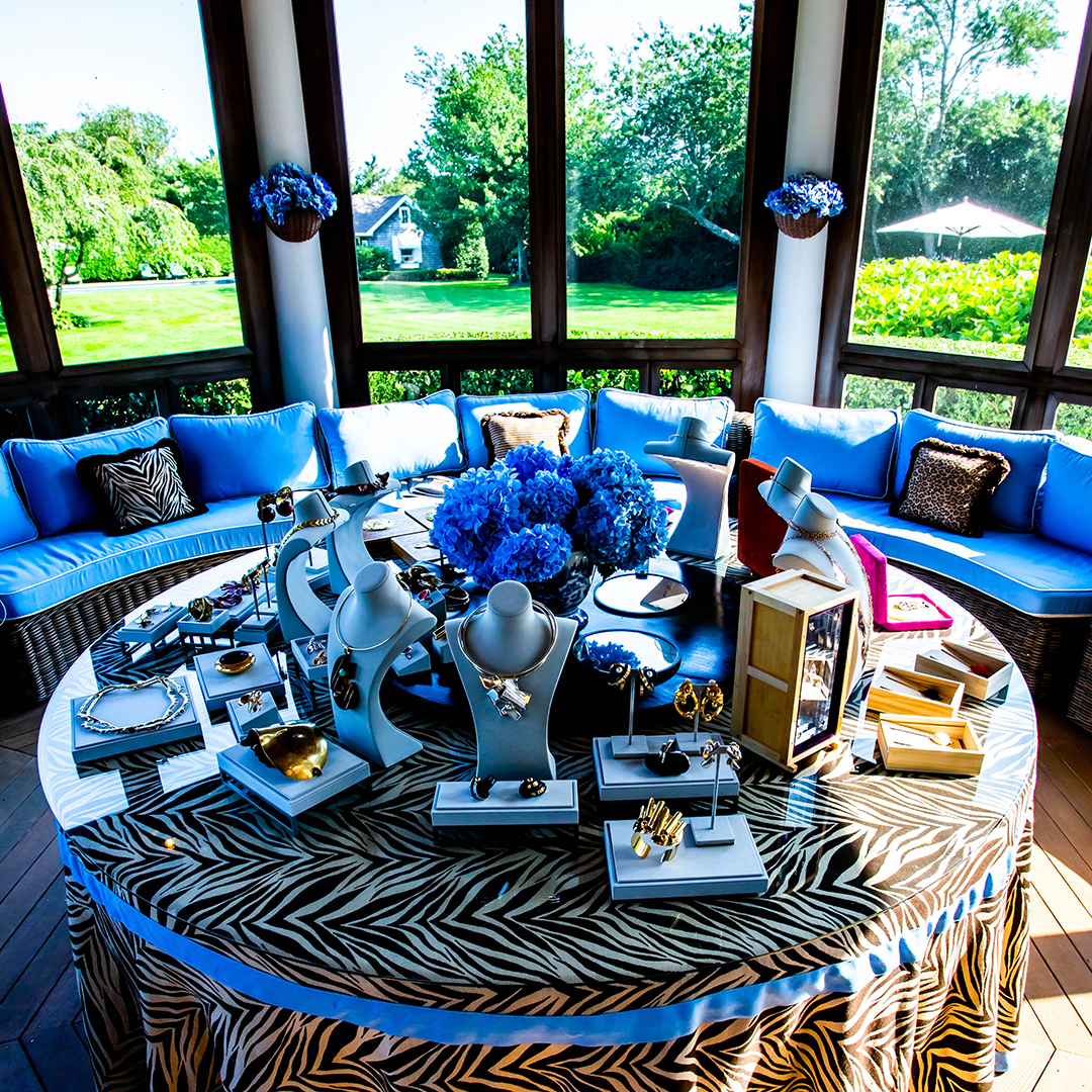 Southampton Sculpture To Wear Soiree Blue Room