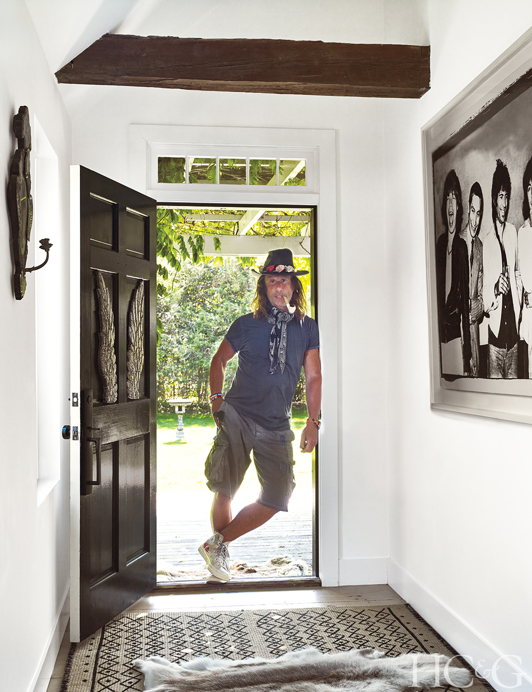 Mitch Alfus in his Hamptons Home