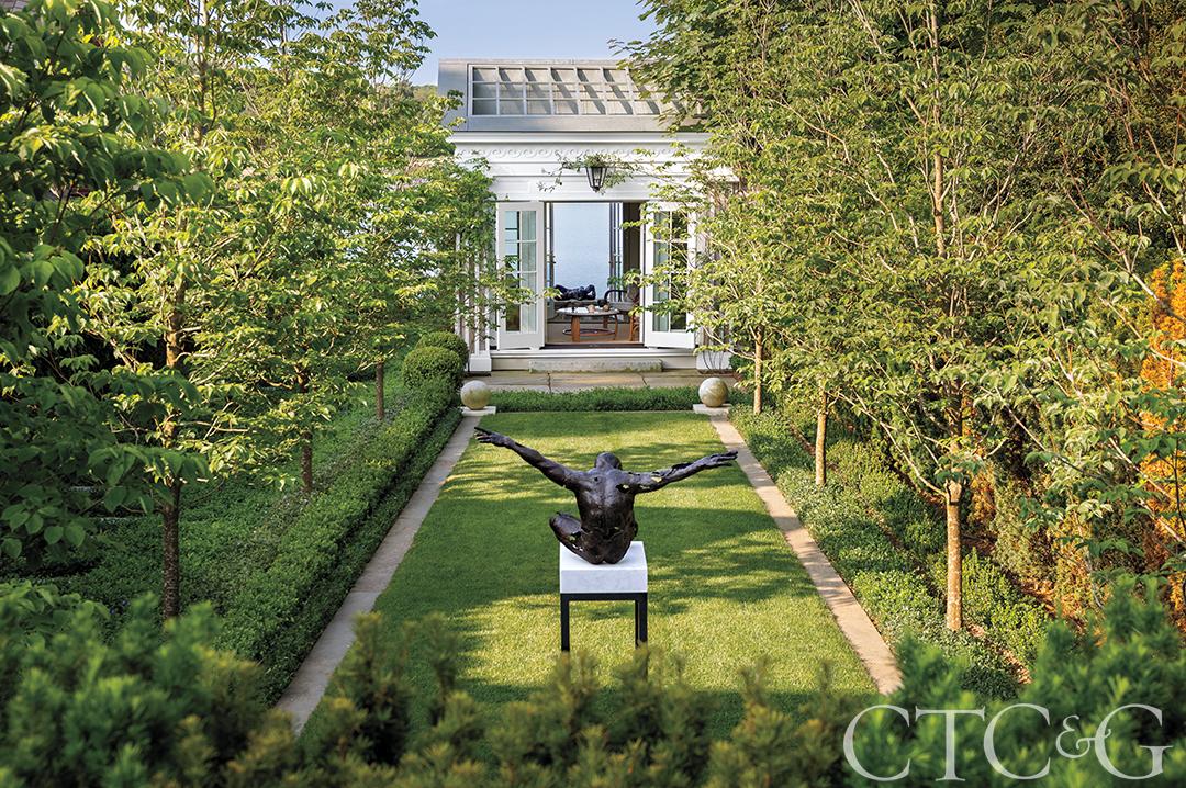 Classic Greek Revival Courtyard