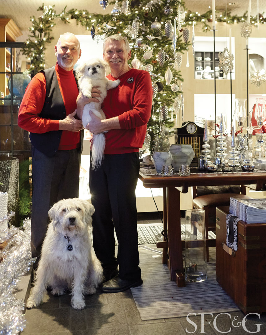 Carl Croft and Steve Fletcher are the owners of Dandelion, San Francisco's destination for all things holiday decor.